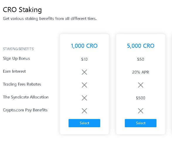 「Crypto.com Exchange」のサインアップボーナス。